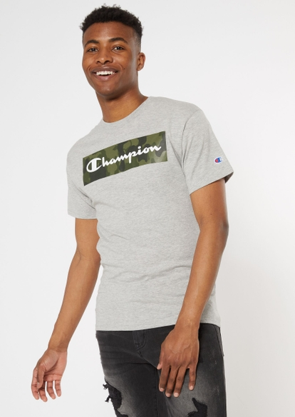 champion gray camo print logo tee - Main Image