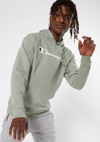 champion green logo hoodie - Main Image