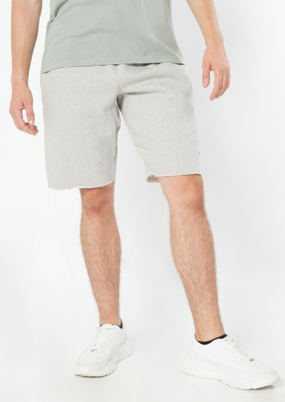 champion gray raw cut knit shorts - Main Image