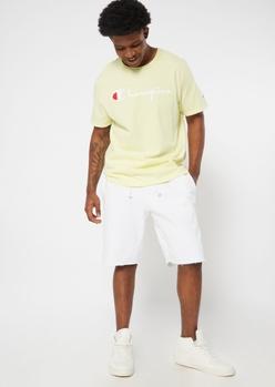 champion white raw cut knit shorts - Main Image