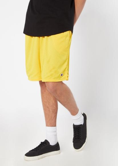 champion yellow classic mesh shorts - Main Image