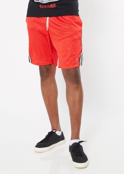 champion red striped side mesh shorts - Main Image