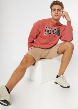 champion khaki knit shorts - Main Image