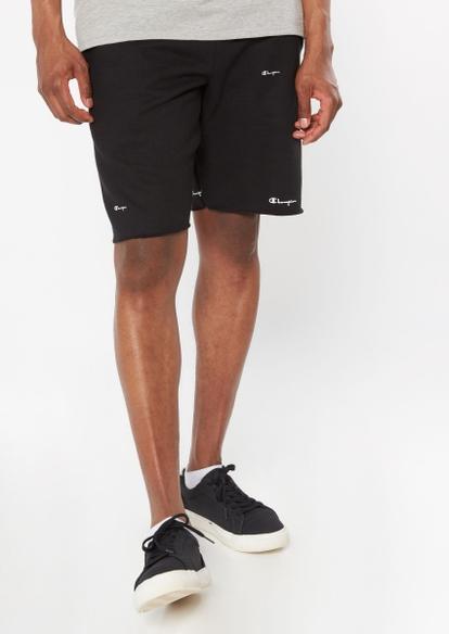 champion black cutoff cotton shorts - Main Image