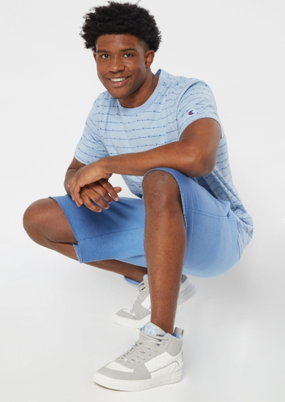 champion blue ombre knit shorts - Main Image