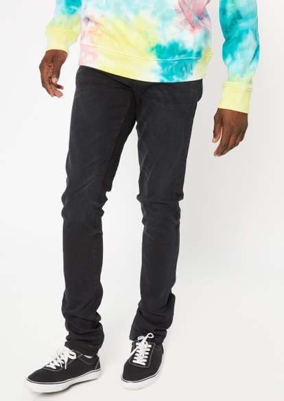 black stacked skinny jeans - Main Image