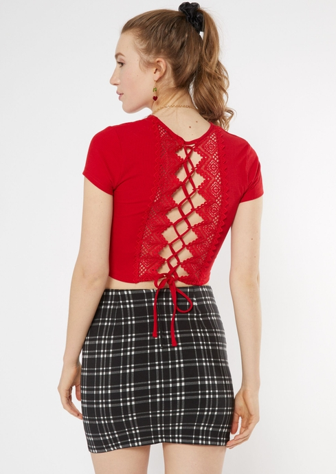 SS LACEUP BACK TEE placeholder image