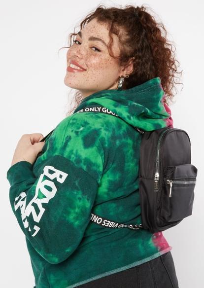black good vibes strap mini backpack - Main Image