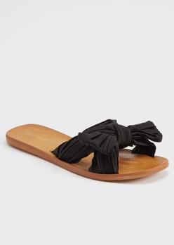 black bow slide sandal - Main Image