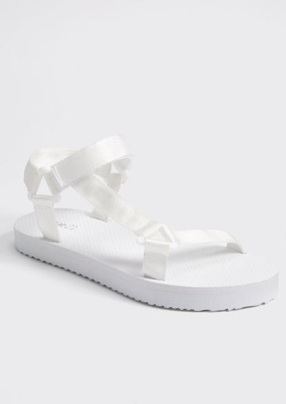 white nylon strappy sandals - Main Image