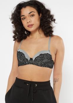 black lace push up bra - Main Image