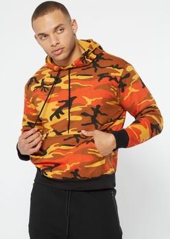 rothco orange camo print hoodie - Main Image