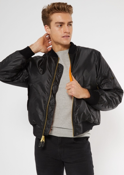 rothco black lined bomber jacket - Main Image