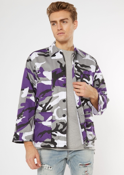 rothco purple camo print cargo jacket - Main Image