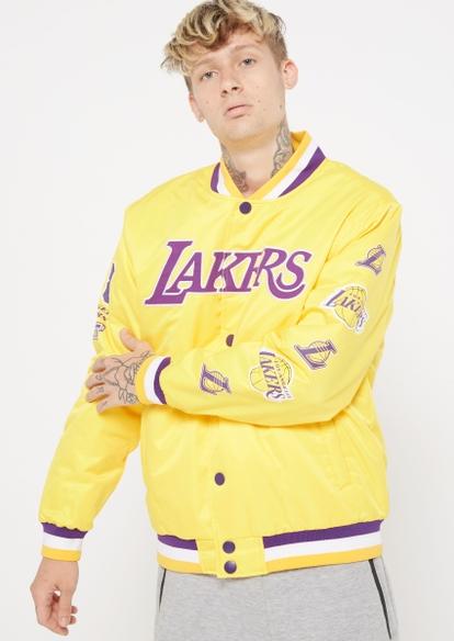 yellow lakers varsity jacket - Main Image