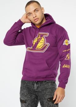 purple la lakers print hoodie - Main Image