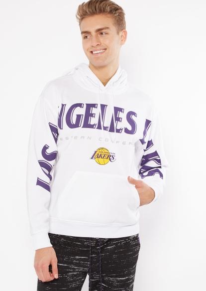nba los angeles lakers team sleeve hoodie - Main Image