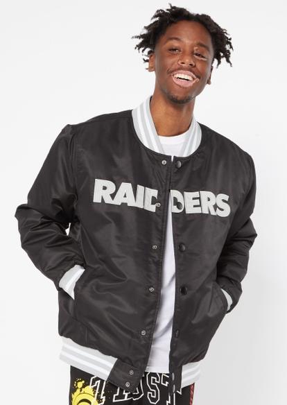 black raiders varsity jacket - Main Image