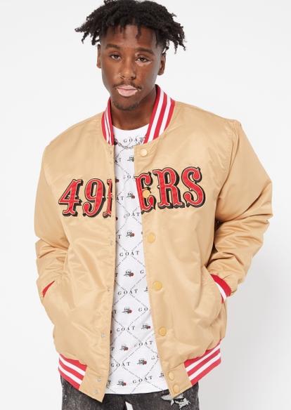 gold san francisco 49ers varsity jacket - Main Image