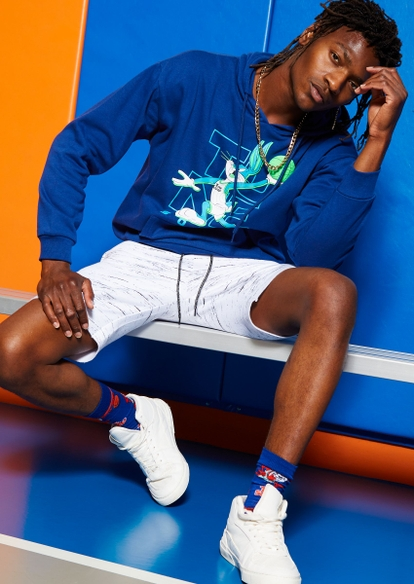 blue bugs bunny tune squad space jam graphic hoodie - Main Image