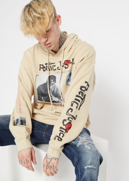 sand poetic justice barbed wire graphic hoodie - Main Image