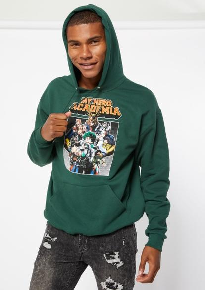 green my hero academia graphic hoodie - Main Image