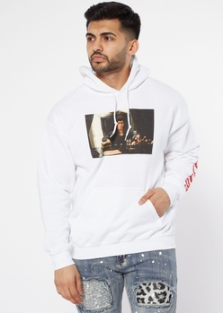 white scarface graphic hoodie - Main Image