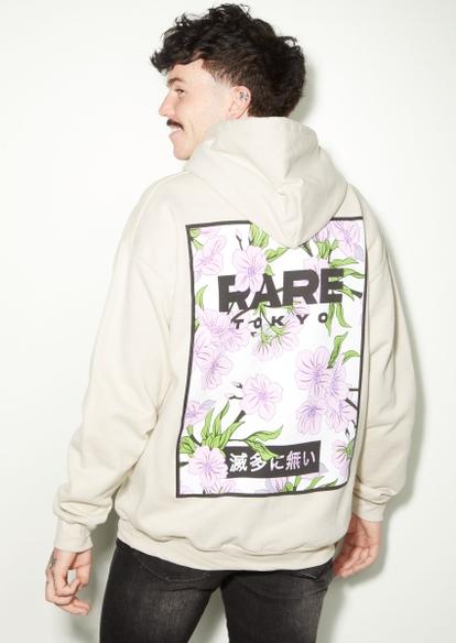 sand rare kanji blossom graphic hoodie - Main Image