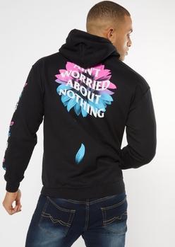 black aint worried sunflower hoodie - Main Image