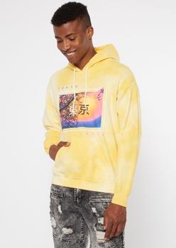 yellow kanji tokyo hoodie - Main Image