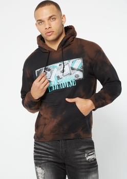 black bleached paradise cash graphic hoodie - Main Image