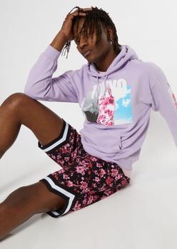 purple tokyo graphic hoodie - Main Image