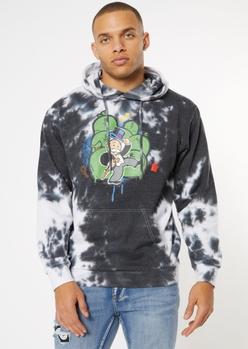black tie dye mr. monopoly hoodie - Main Image