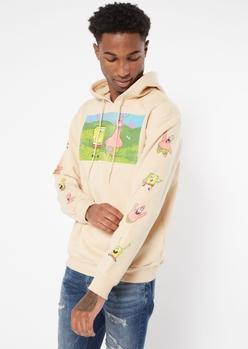 sand spongebob print hoodie - Main Image