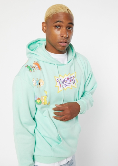 mint rugrats graphic hoodie - Main Image