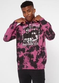 purple acid wash boyz n the hood hoodie - Main Image
