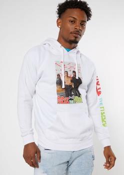 white 90s boyz in the hood graphic hoodie - Main Image