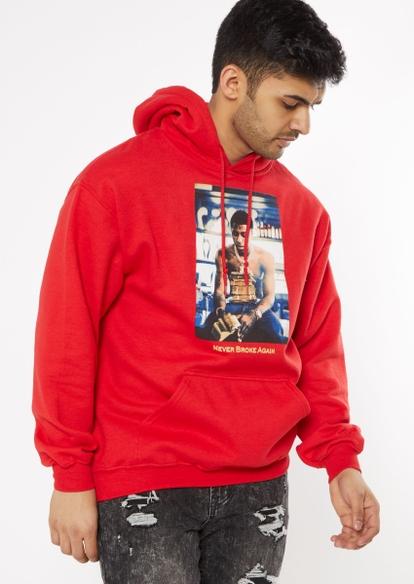 red never broke again graphic hoodie - Main Image