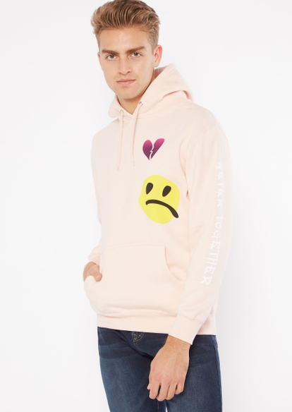 pink never together graphic hoodie - Main Image
