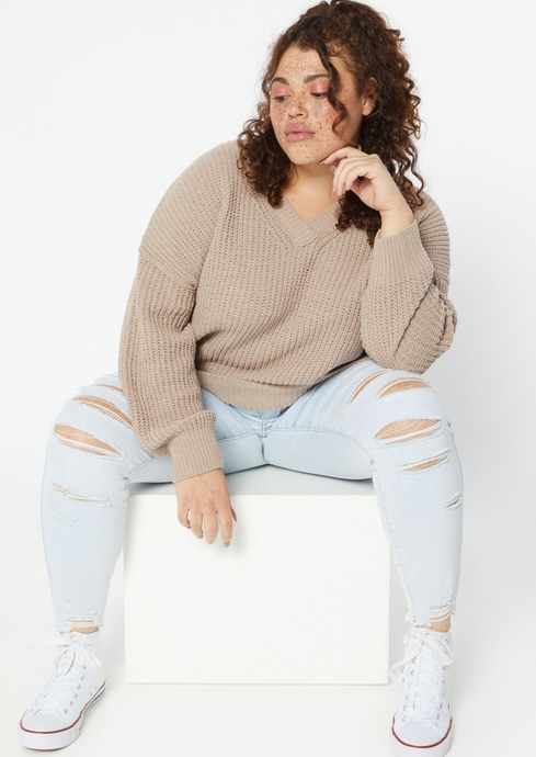 DOUBLE V SLOUCHY MATTE CH placeholder image