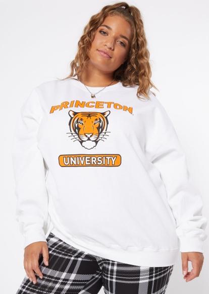 plus white princeton tigers crew neck pullover - Main Image