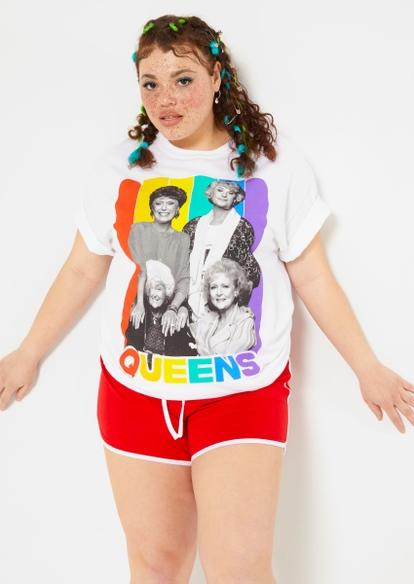 plus rainbow golden girls queens graphic tee - Main Image