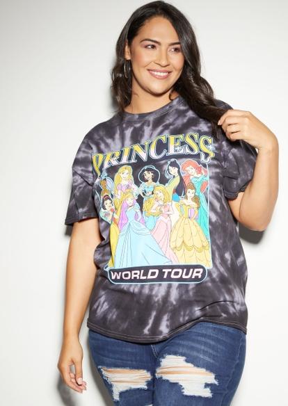 plus tie dye princess world tour graphic tee - Main Image