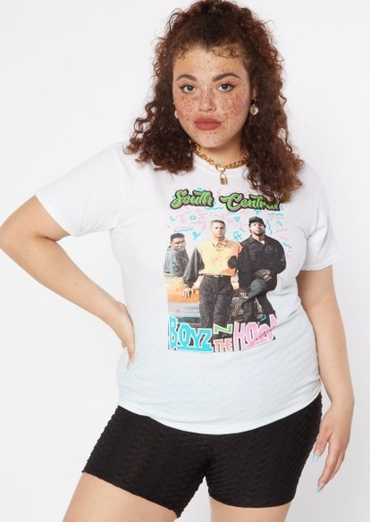 plus white south central boyz n the hood graphic tee - Main Image