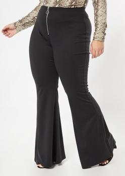 plus black o ring flare pants - Main Image