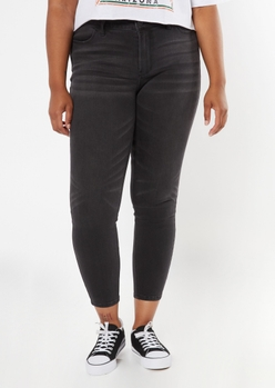 plus ultimate stretch black mid rise jeggings - Main Image