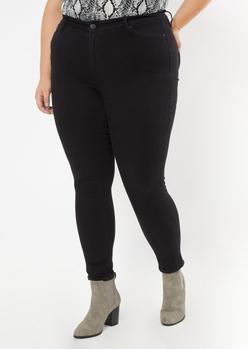 plus black high waisted curvy jeans - Main Image