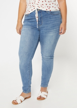 plus ultimate stretch medium wash high waisted jegging - Main Image