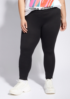 plus black high waisted super soft leggings - Main Image