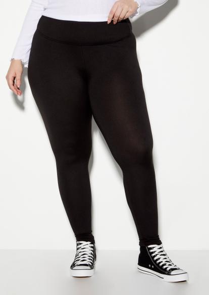 plus black high waisted super soft leggings - Main Image